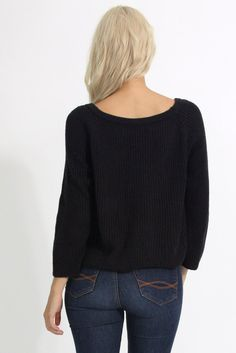 """Back in Black"" Sweater #shopbubblyco"