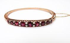 Exquisite Rubies!!   #Victorian #Ruby #Diamond #Bracelet