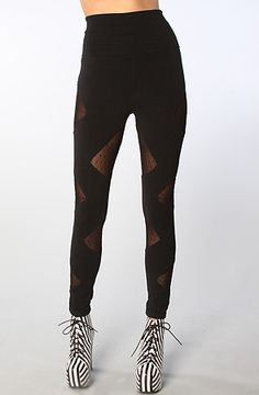 The Siouxie Leggings in Black (Exclusive) by BOTB by Hellz Bellz