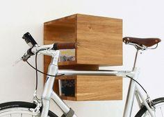 Fahrrad-Halterung I Design I Wandhalterung I Bicycle Furniture I Bike Rack I Oak I Eiche I Made in Berlin I KAPPÔ by MIKILI