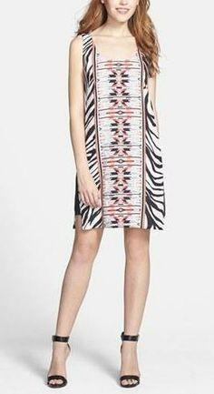 Great for summer! | Zebra-printed shift dress