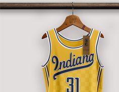 Best Nba Jerseys, Nba Uniforms, Uniform Design, Indiana Pacers, Sports Brands, Baseball Players, Asian Men, Old School, Logo Design