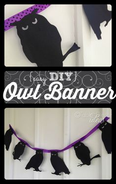 Easy DIY Owl Banner