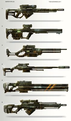 Sniper Rifles by TomEdwardsConcepts.deviantart.com on @deviantART