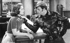 "Mary Murphy and Marlon Brando in Laslo Benedek's ""The Wild One"", 1953"