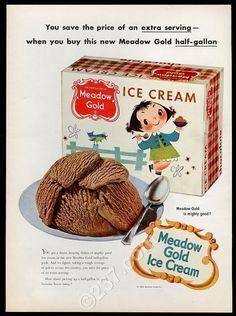 1953-Mary-Blair-little-girl-bird-art-Meadow-Gold-chocolate-ice-cream-print-ad