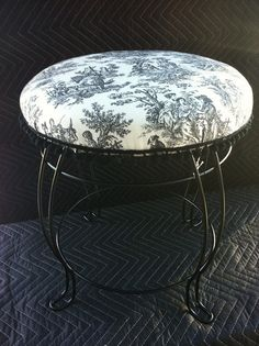 Black Toille Stool-- love this for the bedroom