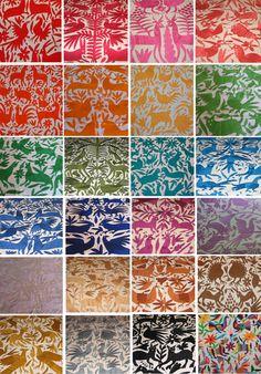 Mexican Otomi Fabric #mexican #otomi #fabric #emboidery