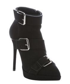 black suede buckle detail 'Emy' booties