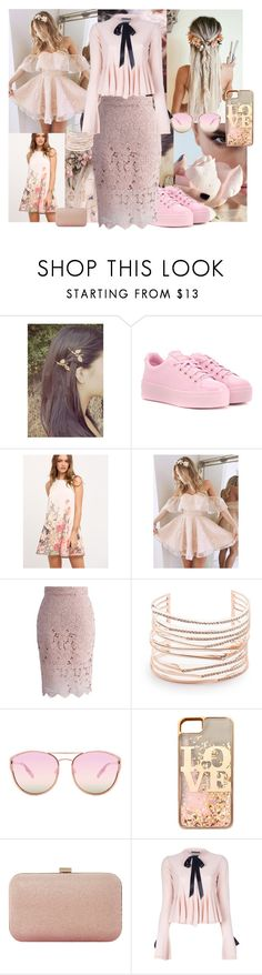 """""""Sweet pink"""" by soledad-trinidad ❤ liked on Polyvore featuring Kenzo, Karl Lagerfeld, Chicwish, Alexis Bittar, Quay, claire's, Dune and Alexander McQueen"""