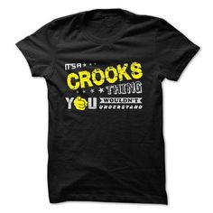 If your name is CROOKS then this is just for you - #vintage shirt #sweatshirt women. PRICE CUT => https://www.sunfrog.com/Names/If-your-name-is-CROOKS-then-this-is-just-for-you-29871327-Guys.html?68278