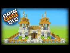 Minecraft 10x10 Starter Castle Tutorial - How to Build a Castle in Minecraft - YouTube