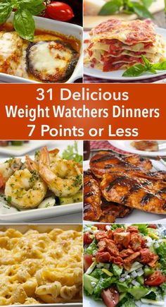 Skinny Points – Recipes  » 31 Delicious Weight Watchers Dinners for 7 Points or Less