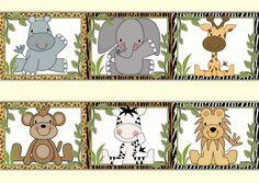 Safari Animal Wallpaper Border Wall Art Decals Jungle Baby Boy Nursery Stickers #decampstudios