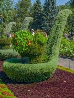 Spoon Mosaicultures in Montreal Botanical Garden, Canada