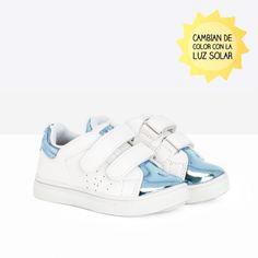 Deportivos de bebé solares azul - Calzado - Bebé - Osito by Conguitos #conguitos #osito #shoes #collection #ss18 #azul #sneakers #zapatillas #deportivos #solares