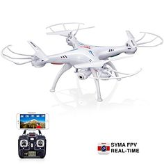 Original Syma X5SW RC 24G 6Axis FPV Quadcopter Drone Helicopter Headless With 20MP Camera Wifi IOSAndroid Sync Real Time VideoWhite >>> Check this awesome product by going to the link at the image.