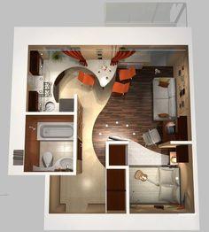 Картинки по запросу дизайн квартиры студии 18 кв.м фото