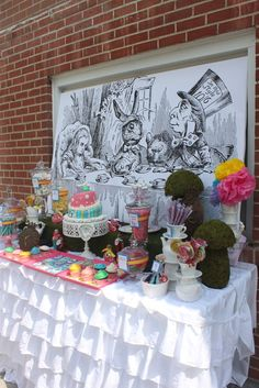 """Photo 1 of 37: A tea party for a bride to be (Drink up Alice!) / Tea Party """"Adventures of Alice in wonderland""""   Catch My Party"""