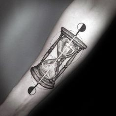 Inner Forearm Hourglass Awesome Small Geometric Tattoos For Men