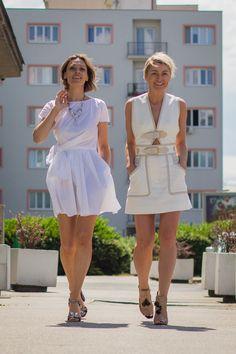 little white dress I Derek Lam 10 Crosby dress I Carven side knot poplin dress I Dolce & Gabbana sandals I #streetstyle # point41