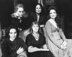 1979: The stage production of 'Taken in Marriage' at the Joseph Papp Public Theatre. Meryl pictured here with fellow cast members Colleen Dewhurst, Dixie Carter, Elizabeth Wilson and Kathlenn Quinlan.