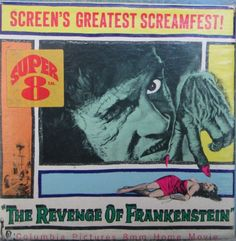 The Revenge of Frankenstein Super 8 Film, Movie Reels, 8mm Film, Hammer Films, Famous Monsters, Movie Covers, Columbia Pictures, Home Movies, Horror Films