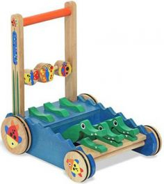 Check Melissa Doug Deluxe Chomp and Clack Alligator Wooden Baby Push Toy Walker, a well built with colorful overwhelming scene that help children ages 9 months and up to learning baby steps.  Click on http://bestkidsrideontoys.com for more detail.