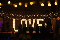 Large light up 'LOVE' letters | Photography by http://www.pauljosephphotography.co.uk/