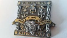 USS ESSEX (LHD-2) GATOR NAVY CPO CHIEF MESS CHALLENGE COIN