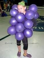 Easy Grape Costume for the Little Ones... This website is the Pinterest of costumes