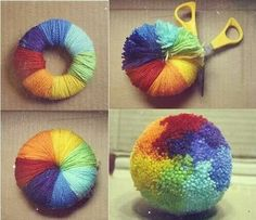 Tutos et DIY faire des pompons en laine - crafts with yarn Account Suspended Kids Crafts, Diy And Crafts, Arts And Crafts, Creative Crafts, Preschool Crafts, Pom Pom Crafts, Yarn Crafts, Crochet Projects, Craft Projects