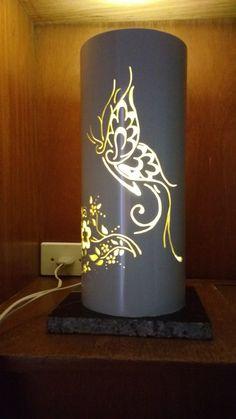 Borboleta Florais Luminaria em PVC