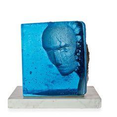 A unique Bertil Vallien sand cast glass sculpture by Bertil Vallien