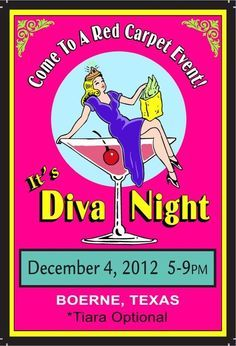 Diva Night Fundraiser - A truly fun fundraiser for women is a Diva Night fundraising event because primping, pampering and partying is always a good time. The whole idea is just to make it a totally fun night out for women to get together and enjoy themselves.