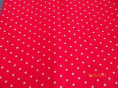 Red Background with White Stars Calico Print by CreationsBoutiques, $3.99