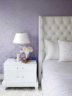 purple wallpaper for bedroom decorating