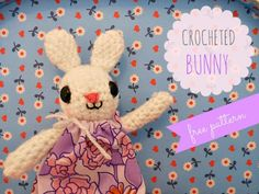 Crocheted Spring Bunny- free pattern, thanks so for this lovely share xox