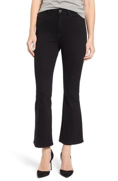 DL1961 Jackie High Waist Crop Flare Jeans (Carver) available at #Nordstrom