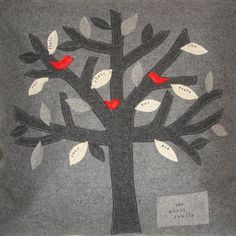 Family Tree personalised cushion cover by Lovebirdcushions