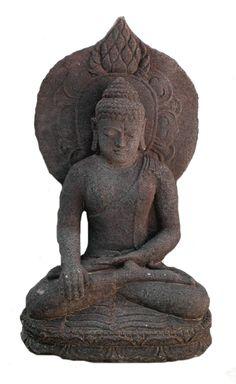 Indonesian Basalt Sculpture of Buddha Origin: Indonesia Circa: 18 th Century AD to 20 th Century AD