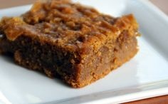 Almond butter pumpkin bars