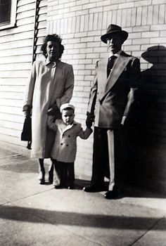 Mom, me, and dad in,1949.