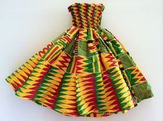 Robe en pagne kita pour enfant de 2 à 4 ans sur stylafrica.blogspot.fr