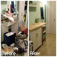 My passion is allowing people to rediscover the joy their own space can bring them. To be creative, to relax, to entertain. With this project, my client was feeling overwhelmed with clutter in their small kitchen. We worked together to eliminate unnecessary items and utilize storage in new ways. #eliminateclutter #professionalorganizer #getorganized