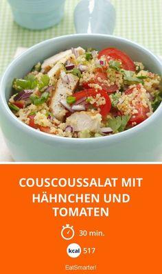 Couscoussalat mit Hähnchen und Tomaten - smarter - Kalorien: 517 Kcal - Zeit: 30 Min. | eatsmarter.de