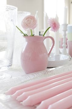 Think Pink, Think Pretty! Pretty In Pink, Pink Love, Pink And Green, Pink White, Perfect Pink, Rosa Pink, Rosa Rose, Deco Pastel, Pastel Pink