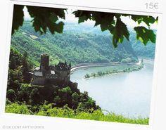 katz castle along the rhine river in germany