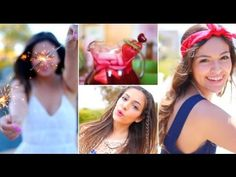 ▶ Fourth of July Outfit ideas, DIY Treats + Hair  Makeup! - YouTube..  Bethany Mota is the perfect Ro model for young girls!!..I really love her!!!.. Fame didn't change her at all, unlike these other chicks...lol..Doesn't need to be half naked to make millions...Hope I have a daughter just like her someday!!..Yes, I support her clothing line @aeropostale ..Cute and Comfy Clothes!!!.