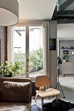 Lovely livingroom | Roof home in Paris | MilK Decoration